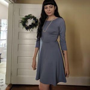 Dusty Blue Knee-Length Dress